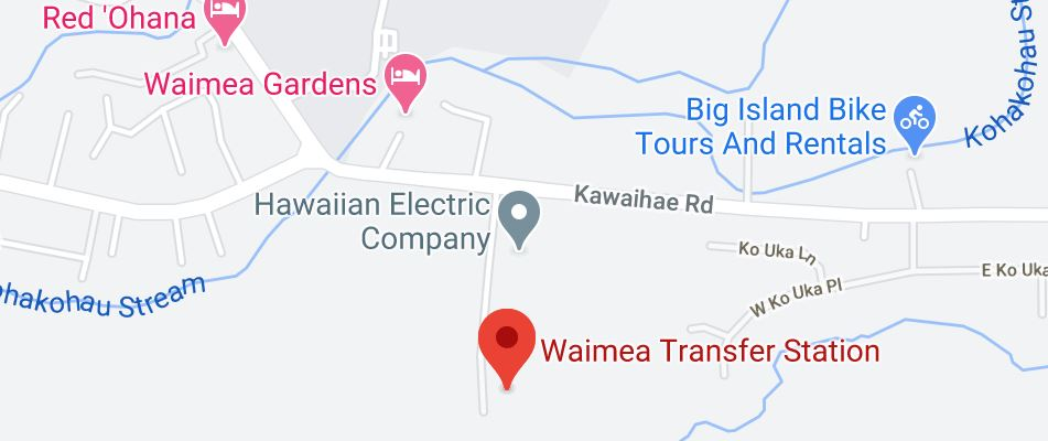 Map showing location of Waimea Transfer Station
